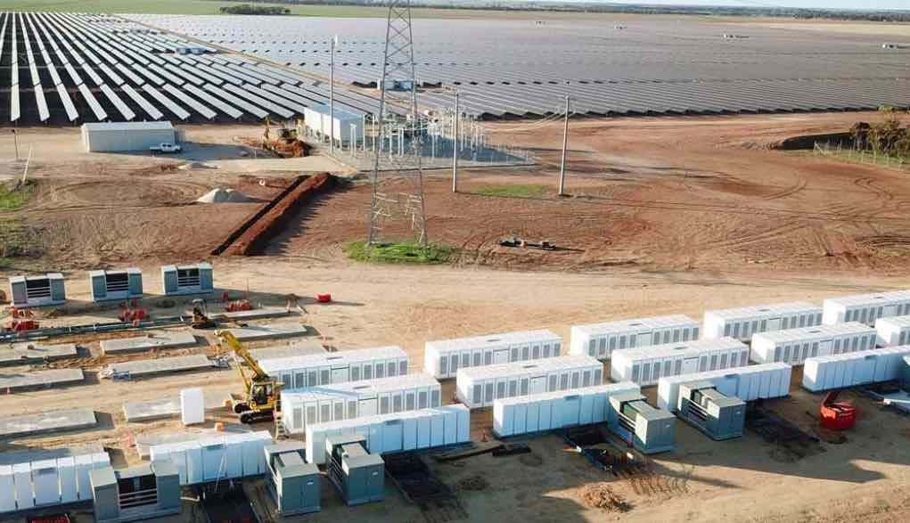 Tesla's and Victoria's second big battery completed at Ganawarra solar farm