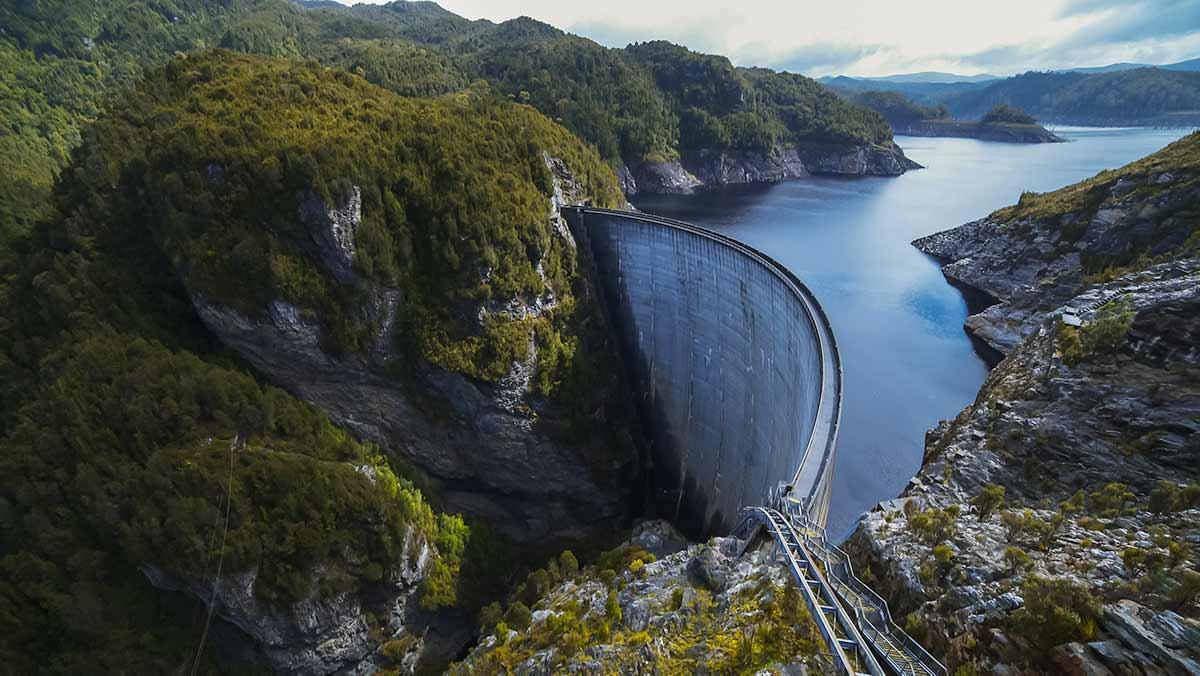 hydro tas pumped hydro battery nation wide view of strathgordon dam in tasmania - optimised 1200