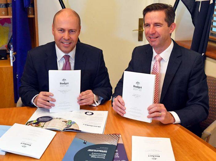 Treasurer Josh Frydenberg and Minister for Finance Simon Birmingham - aap - optimised
